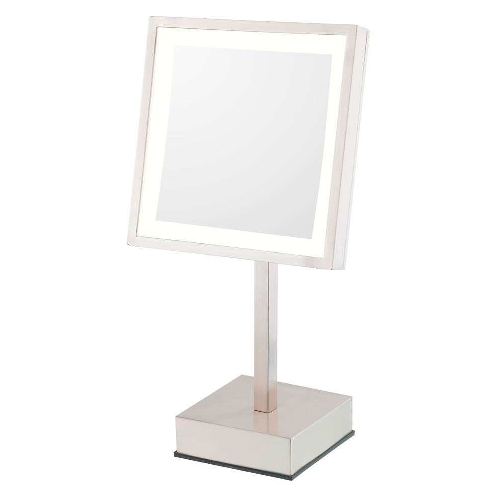 Aptations Single-Sided Led Square Freestanding Mirror - Rechargeable