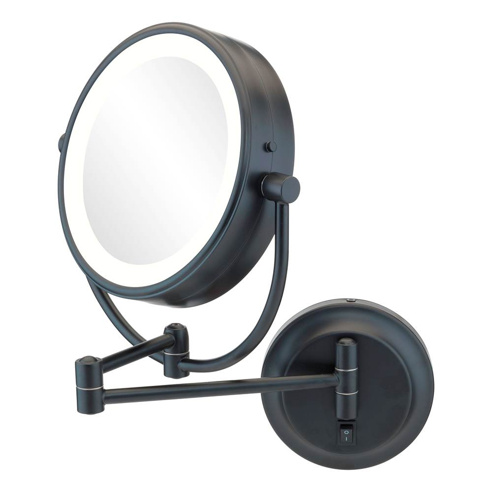 Aptations Neomodern Magnified Makeup Mirror With Switchable Light Color in Brushed Nickel