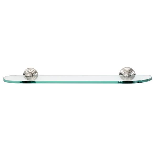 Alno 24'' Glass Shelf w/Brackets