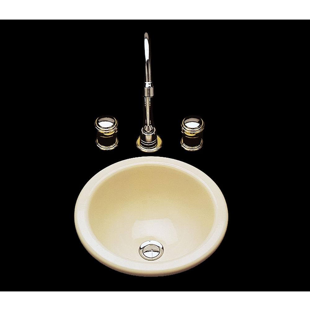 Bates And Bates Donna, Single Glazed, Small Round Lavatory, Plain Bowl,Overflow, Drop In