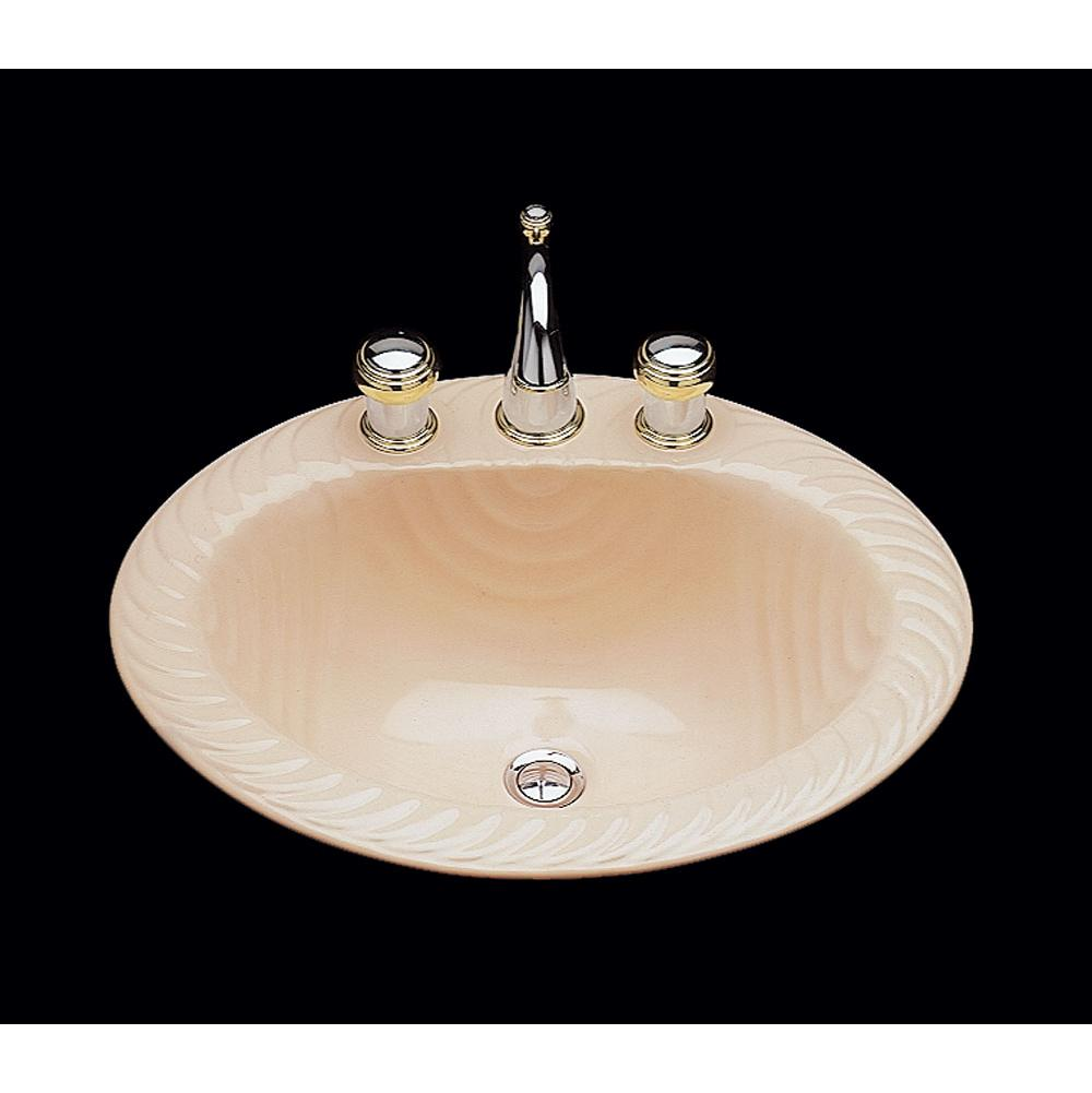 Bates And Bates Doris, Single Glazed, Large Oval Lavatory, Wave Pattern, Overflow, Drop In Only