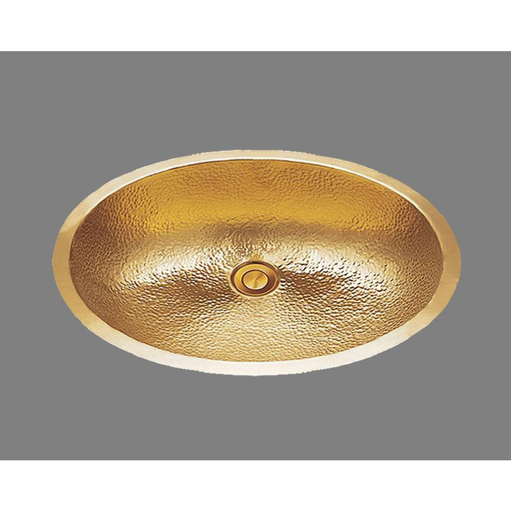 Bates And Bates Large Oval Lavatory, Melon Pattern, Undermount & Drop In