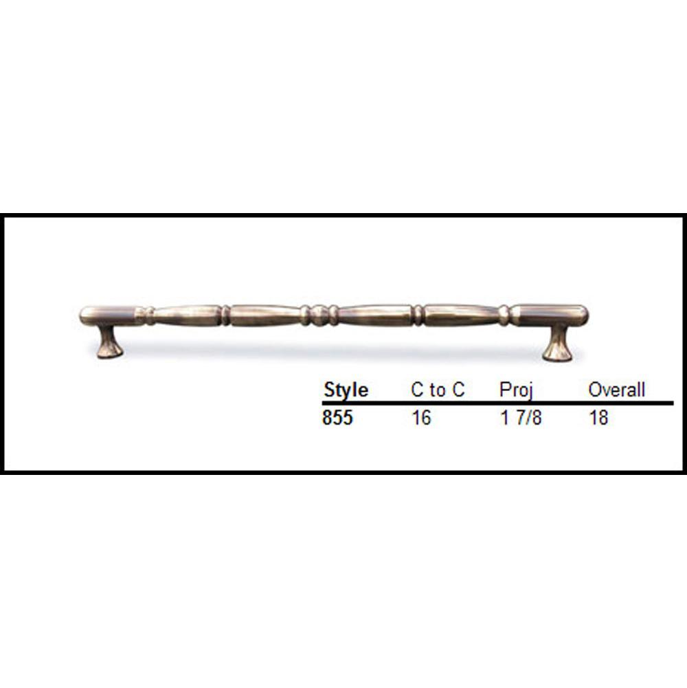 Colonial Bronze 3/4'' diameter traditional pull 16'' center to center surface mount  - Matte Oil Rubbed Bronze