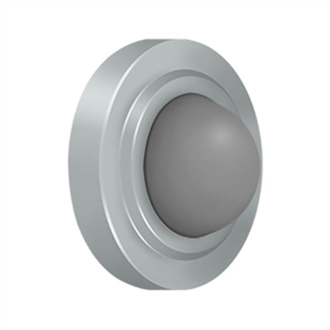 Deltana Wall Mount Flush Bump Convex 2 3/8'', Brushed Chrome