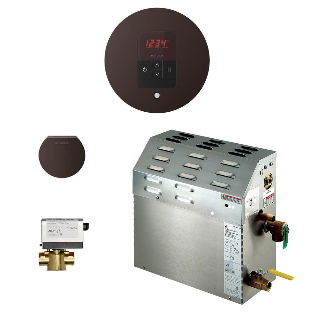 Mr. Steam 9kW Steam Bath Generator with iTempo AutoFlush Round Package in Oil Rubbed Bronze