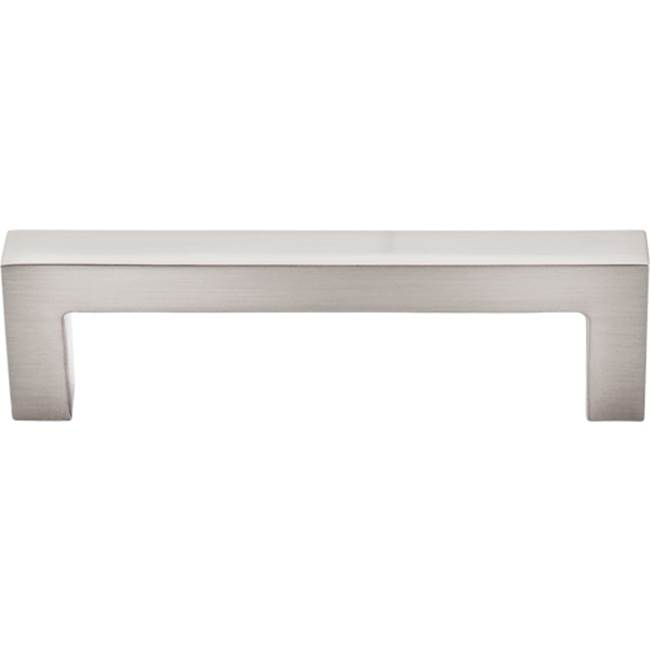 Top Knobs Square Bar Pull 3 3/4 Inch (c-c) Brushed Satin Nickel