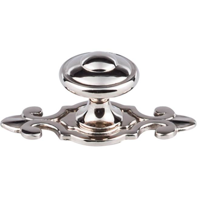 Top Knobs Canterbury Knob 1 1/4 Inch w/Backplate Polished Nickel