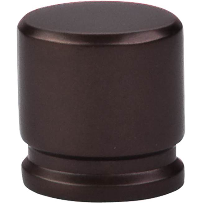 Top Knobs Oval Knob 1 1/8 Inch Oil Rubbed Bronze