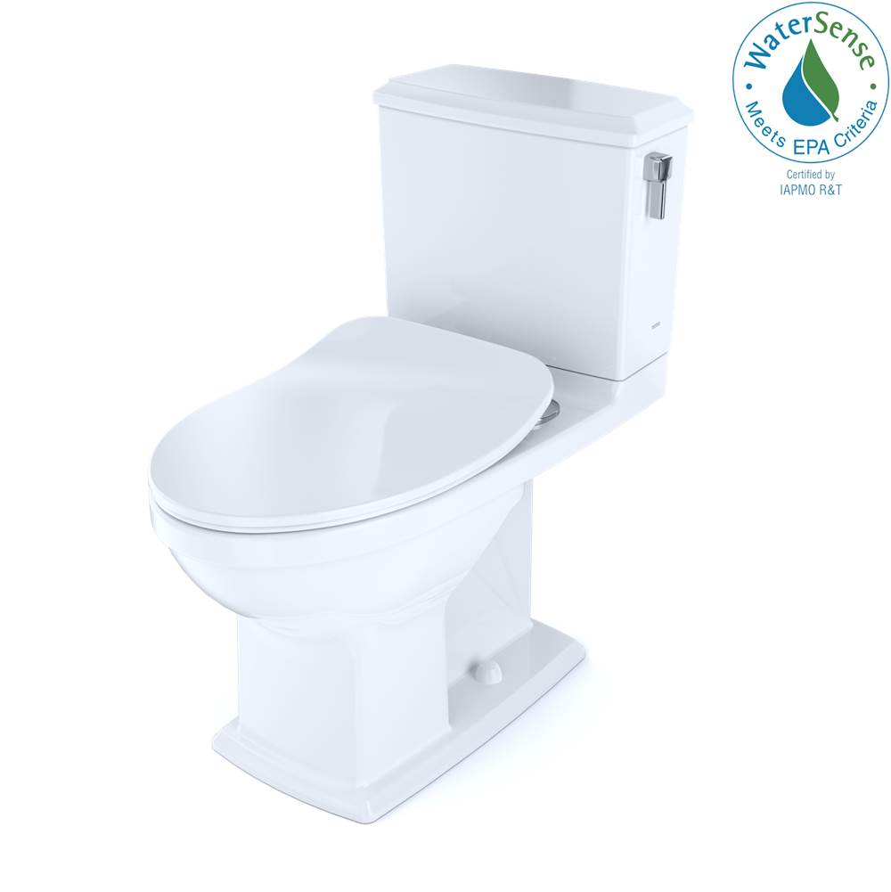 Toto Connelly® Two-Piece Elongated Dual Flush 1.28 and 0.9 GPF with CEFIONTECT® and Right Lever, WASHLET®+ Ready, Cotton White