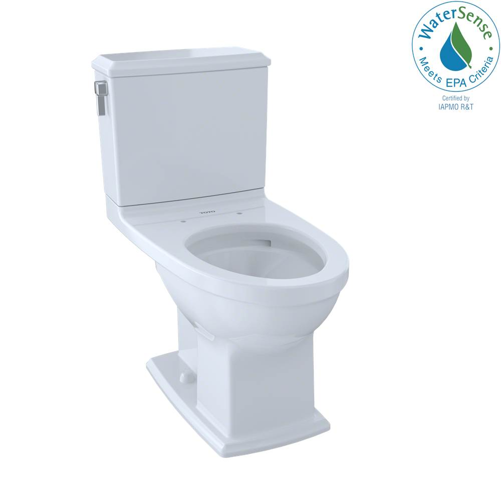 Toto Connelly® Two-Piece Elongated Dual-Max®, Dual Flush 1.28 and 0.9 GPF Universal Height Toilet with CEFIONTECT, Cotton White