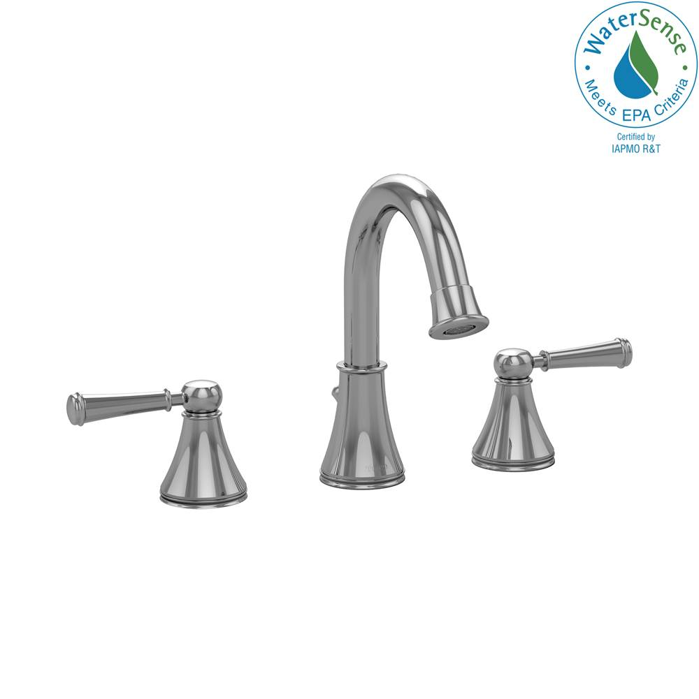 Toto Vivian Alta® Two Handle Widespread 1.5 GPM Bathroom Sink Faucet, Polished Chrome