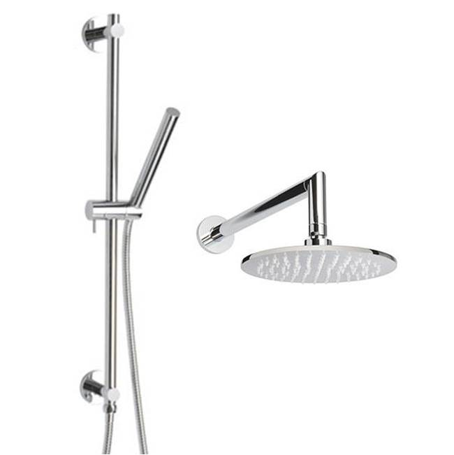 Thermasol Complete Shower Package Round Polished Chrome
